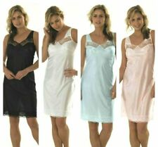 New Ladies Full Length Slip Lace Petticoat Underskirt Chemise Plus Size 10-32