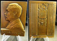 Plaquette SENATEUR  Emile BOUTON par Max-BLONDAT 1923 bronze