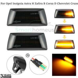 Dynamic Side Indicator LED Repeater Light For Opel Adam Astra H Zafira B Corsa D