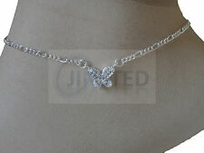 Silver Butterfly Anklet Anclet Foot Ankle Bracelet Womens Costume Jewelry Anc020