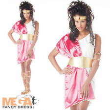 Sexy Roman Toga Ladies Fancy Dress Womens Adults Grecian Greek Costume Outfit