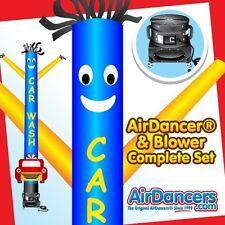 New listing Blue & Yellow Car Wash with Car Shape Air Dancer ® & Sky Dancer Blower