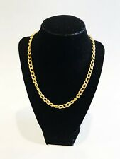Vintage Minimal Gold-tone Cable Chain Necklace Single Strand Thick Chainlink 90s