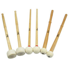 New 3 Pairs of Timpani Mallets Sticks Soft & Hard Type Felt Heads Mallets