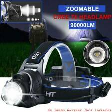 90000LM Zoomable LED Headlamp Rechargeable Headlight CREE XML T6 Head Torch AU