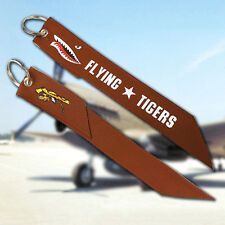 Flying Tigers Fabric Key Chain Luggage Aviation Tag Remove Before Flight 1pc
