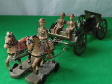 Vintage ELASTOLIN/Lineol WW1 ARMéE BRITANNIQUE ARTILLERIE équipe Made in Germany #
