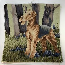 Lakeland Terrier Dog in Grass Needlepoint Only Beautiful 14� Square