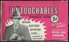 1962 Leaf TV's Famous Untouchables 5-Cent Display Box