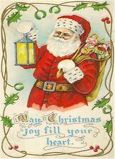 May Christmas Joy Fill your HEART  Metal Sign Tin Wall Plaque Decor  Festive