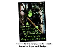 some days you have to put on the hat metal print tin sign Wicked Witch Wizard Oz