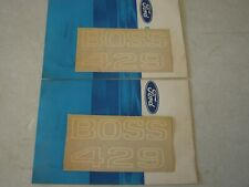 NOS OEM 1969 1970 Ford Mustang Boss 429 Fender Decals White