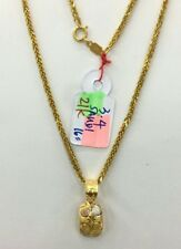 Gold Authentic 21k saudi gold necklace with pendant,,