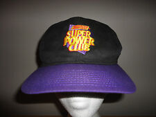 Vintage 1990s NINTENDO POWER Magazine SUPER POWER CLUB Black Purple Snapback Hat