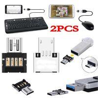 2xMicro USB Typ B mini OTG Adapter Stecker auf USB Buchse Typ A 2.0 Host Stick^