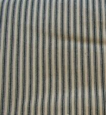 Country Black York Ticking Tier Curtains 72WX36L Striped Lined Cotton