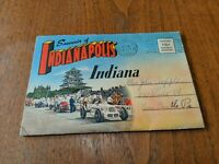 Vintage Indianapolis Indiana Souvenir Postcard Booklet 1949 Linen Color Indy 500