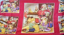 NIP Santa Claus Queen Size Flat Bed Sheet or Make a Quilt & Pillows