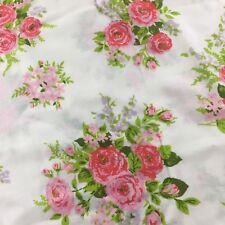 Fieldcrest Pink Roses Flowers Standard Pillowcase Floral Bouquet Vintage