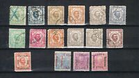 Montenegro 1874/1905 small collection nice used stamps