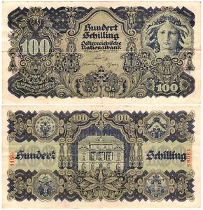 Austria 100 Schilling P#118 (1945) Oesterreichische Nationalbank VF