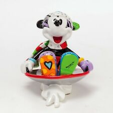 ROMERO BRITTO Figur Mickey im Wok Disc Sled ENESCO DISNEY 4026358