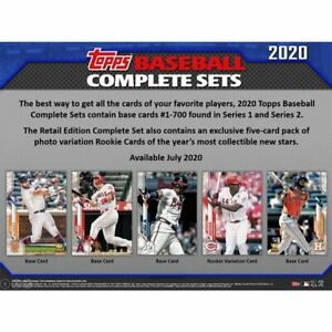 2020 Topps Baseball Series 1 & 2 Team Sets *You Pick From List* (1-700)
