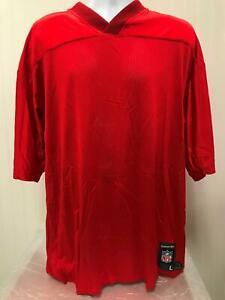 NFL Players Reebok Kansas City Chiefs Red Blank Football Jersey Large L new NOS