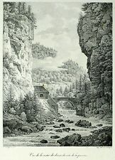GRANDE CHARTREUSE Große Kartause - Delpech nach Bourgeois - Lithografie 1821