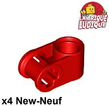 Lego technic - 4x Axe Axle connector perpendicular rouge/red 6536 NEUF