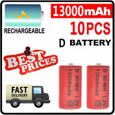 10x D size 1.2V 13000mAh Ni-MH Rechargeable Battery USA