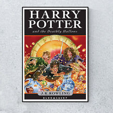 Harry Potter & The Deathly Hallows Book Cover Glossy Print Wall A4 Poster