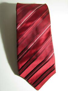 Banana Republic Neck Tie Cherry Red Maroon 100% Silk