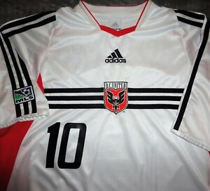VTG ADIDAS USA DC UNITED ETCHEVERRY BOLIVIA SOCCER JERSEY FOOTBALL SHIRT MLS LRG