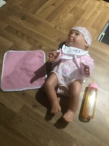 Plastic Toy Baby Doll With Bottle And Blanket