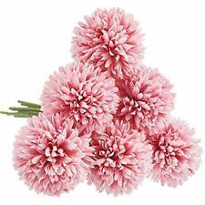 Cqure Artificial Flowers, Fake Flowers Silk Artificial Hydrangea 6 Heads Bridal