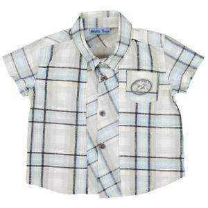 Abella Boys Checked Shirt - Grey