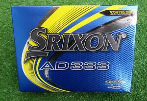 12  neue Srixon  AD333  Tour Yellow  Golfbälle  Modell 2020