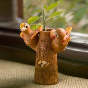 Earthenware Decorative Vase (16 cm x 7.6 cm x 17.5 cm, Brown)