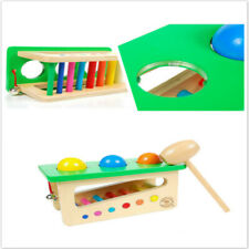 Children Wooden Tap Bench Knock Ball Percussion Punch Instruments Hammering