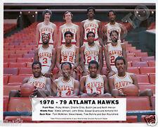 1978-79 ATLANTA HAWKS BASKETBALL TEAM 8X10 GLOSSY PHOTO