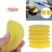 12Pcs Car Cleaning Wash Sponge Auto Waxing Sponge Polishing Pad Small Size Round