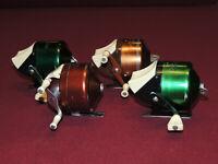 4 Vintage Bronson, Hiawatha Spincast Reels, (2) 803's, (1) 906 & (1) 27-6973