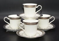 Noritake Continental Cobalt * 4 SETS CUPS & SAUCERS * 1 Saucer Flawed