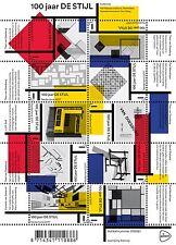 2017 Nederland de Stijl   kunst  schilderijen  velletje      luxe postfris/mnh