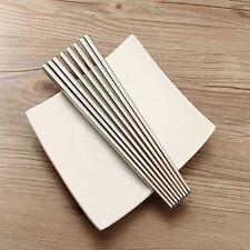 1Pair Household Dinnerware Mirror Polished Square Chopsticks Tableware
