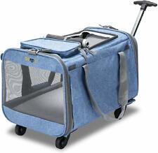 Bonnlo Cat Puppy Pet Wheels Rolling Carrier Stroller