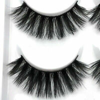 100% Mink 5Pair Natural Thick False Fake Eyelashes Eye Lashes Makeup Extension Z
