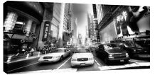 NEW YORK TIMES SQUARE CANVAS ART TAXIS BLACK & WHITE XL
