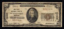 Watervliet, Michigan, Charter #10498, Series1929, $20.00 Type –1, 30 Notes Known